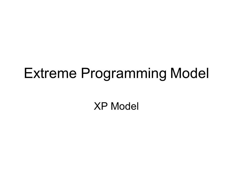 Extreme Programming Model XP Model