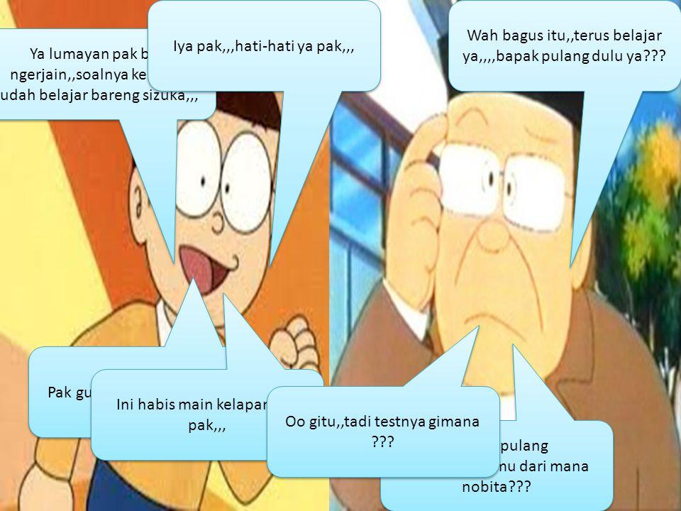 Nobita liat ini,,,, Wah apa nie doraemon??.