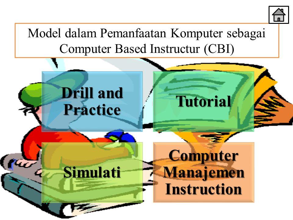 Model dalam Pemanfaatan Komputer sebagai Computer Based Instructur (CBI) Drill and Practice Tutorial Simulati Computer Manajemen Instruction