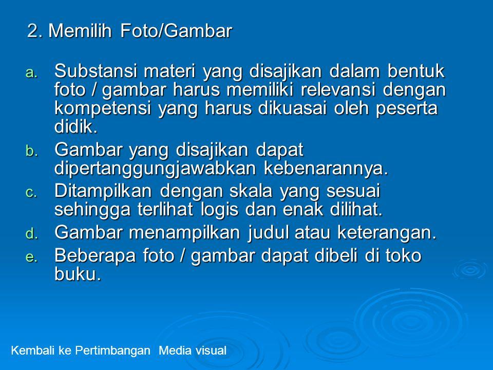 2.Memilih Foto/Gambar a.