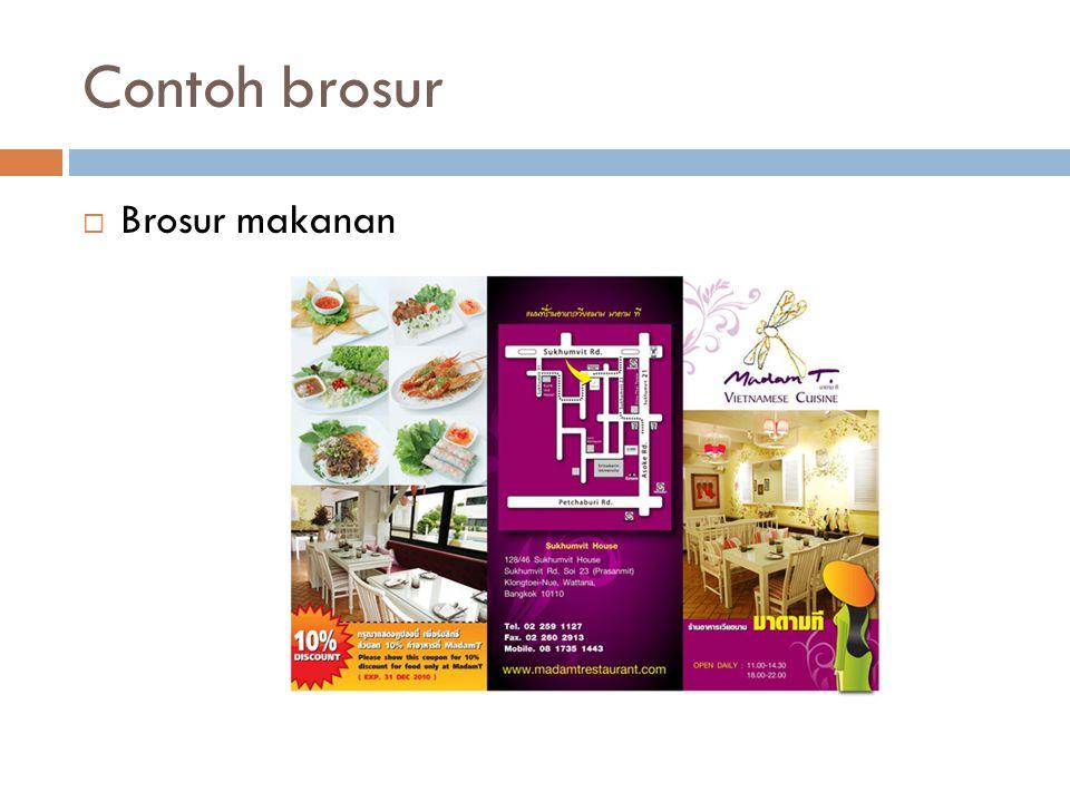Contoh brosur  Brosur makanan