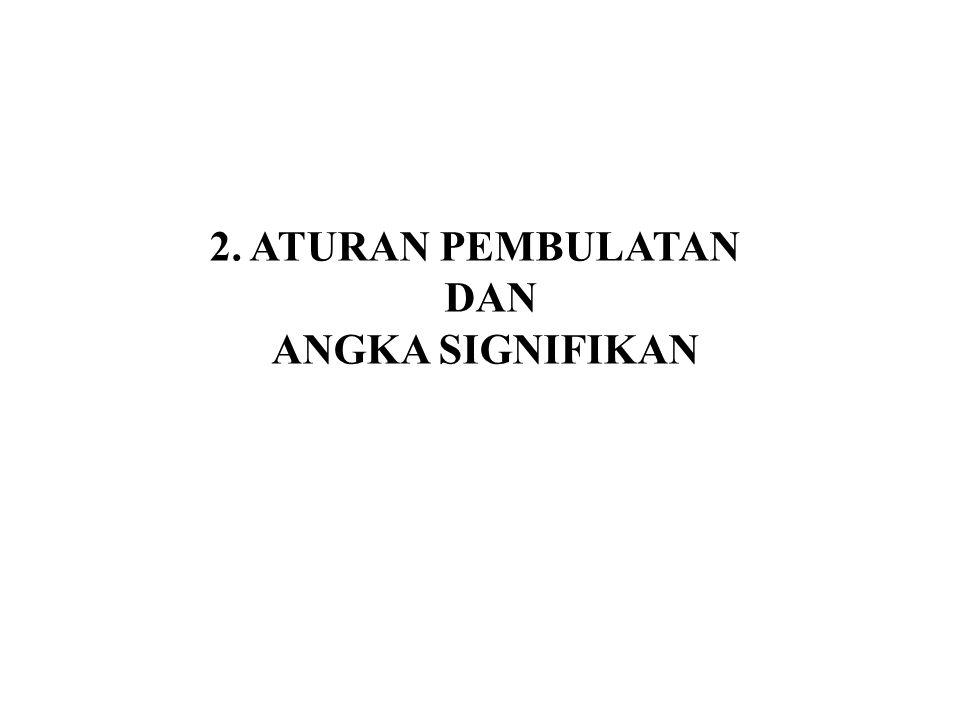 2. ATURAN PEMBULATAN DAN ANGKA SIGNIFIKAN