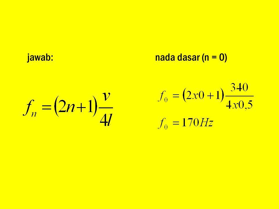 nada dasar (n = 0)
