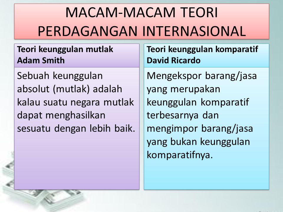 KEBIJAKAN PERDAGANGAN INTERNASIONAL Kebijakan perdagangan internasional lahir dari 2 kelompok yang pro dan kontra terhadap perdagangan internasional.