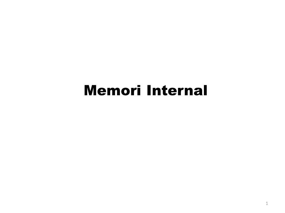 Lokasi CPU (register) Internal (main memori) External (secondary memori) 2