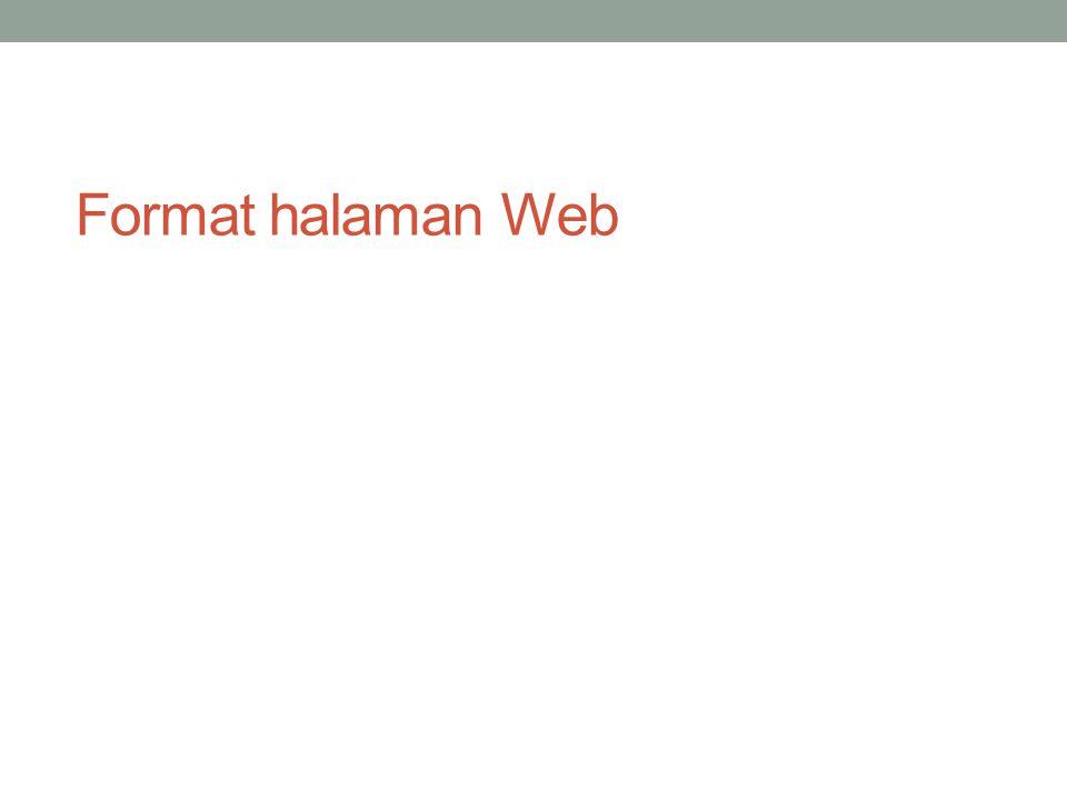 Format halaman Web