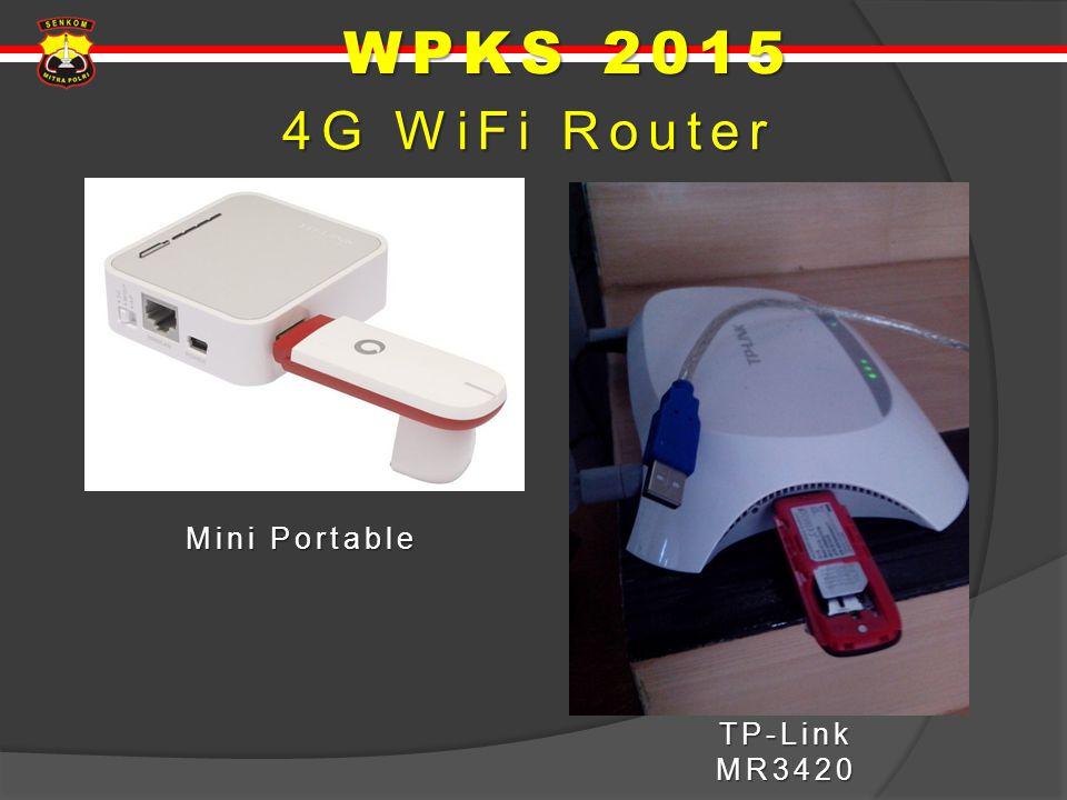 4G WiFi Router Mini Portable TP-Link MR3420 WPKS 2015