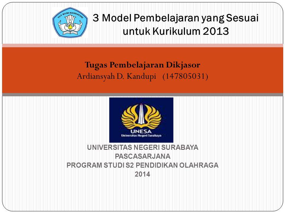 Tugas Pembelajaran Dikjasor Ardiansyah D. Kandupi(147805031) UNIVERSITAS NEGERI SURABAYA PASCASARJANA PROGRAM STUDI S2 PENDIDIKAN OLAHRAGA 2014 3 Mode