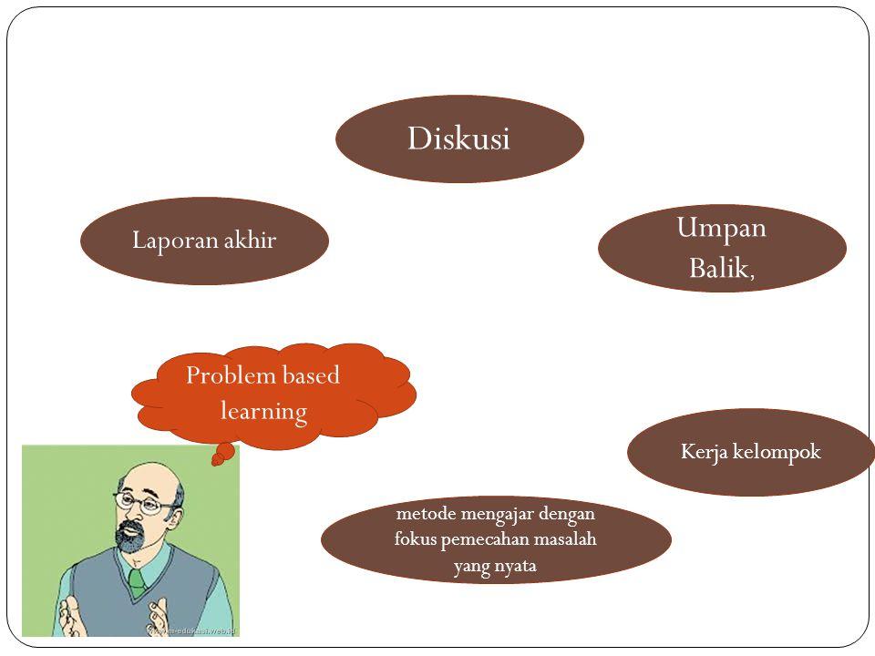 Problem based learning Laporan akhir metode mengajar dengan fokus pemecahan masalah yang nyata Diskusi Umpan Balik, Kerja kelompok