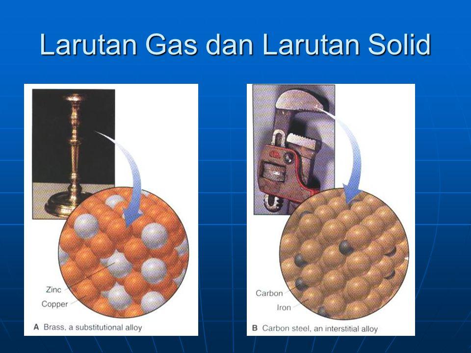 Larutan Gas dan Larutan Solid