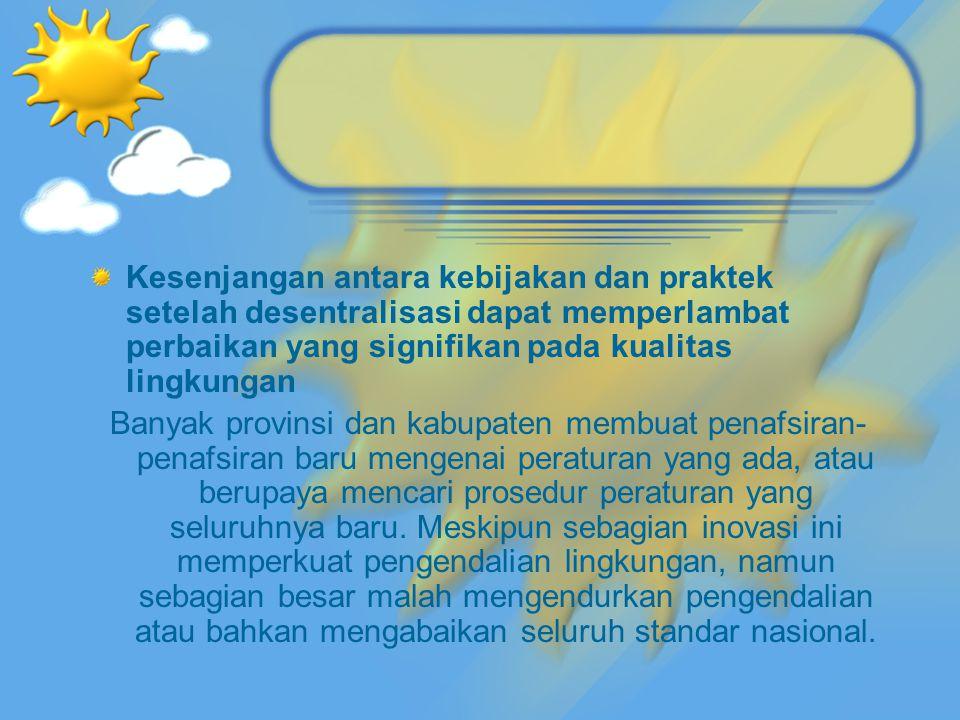 Persepsi masyarakat tentang masalah lingkungan dan prioritas pembangunan Pemerintah Kesadaran masyarakat penting dalam upaya mengatasi masalah lingkungan di Indonesia, dari risiko bencana alam sampai konservasi biodiversitas.