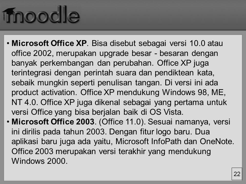 22 Microsoft Office XP.