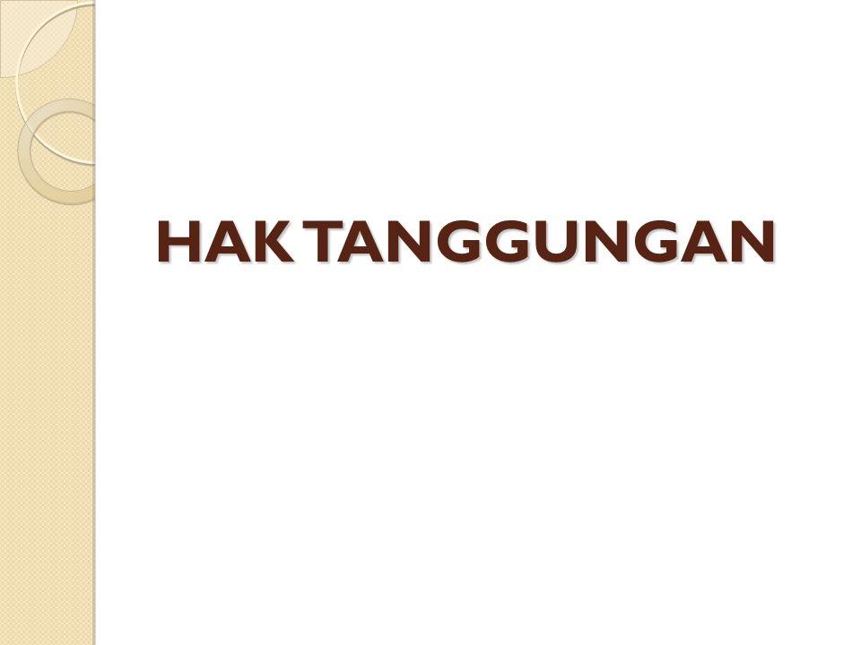 LAHIRNYA HAK TANGGUNGAN LAHIRNYA HAK TANGGUNGAN (lanjutan) Tanggal Buku Tanah Hak Tanggungan adalah:  Tanggal Hari ke Tujuh Setelah Penerimaan Secara Lengkap Surat-Surat yang diperlukan bagi Pendaftaran Hak Tanggungan.