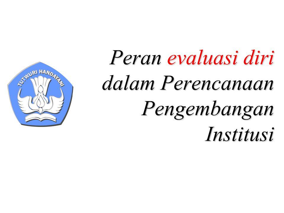 Peran evaluasi diri dalam Perencanaan Pengembangan Institusi