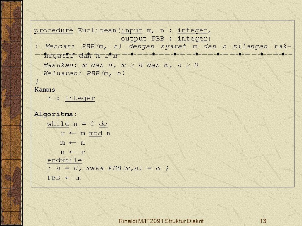 Rinaldi M/IF2091 Struktur Diskrit13
