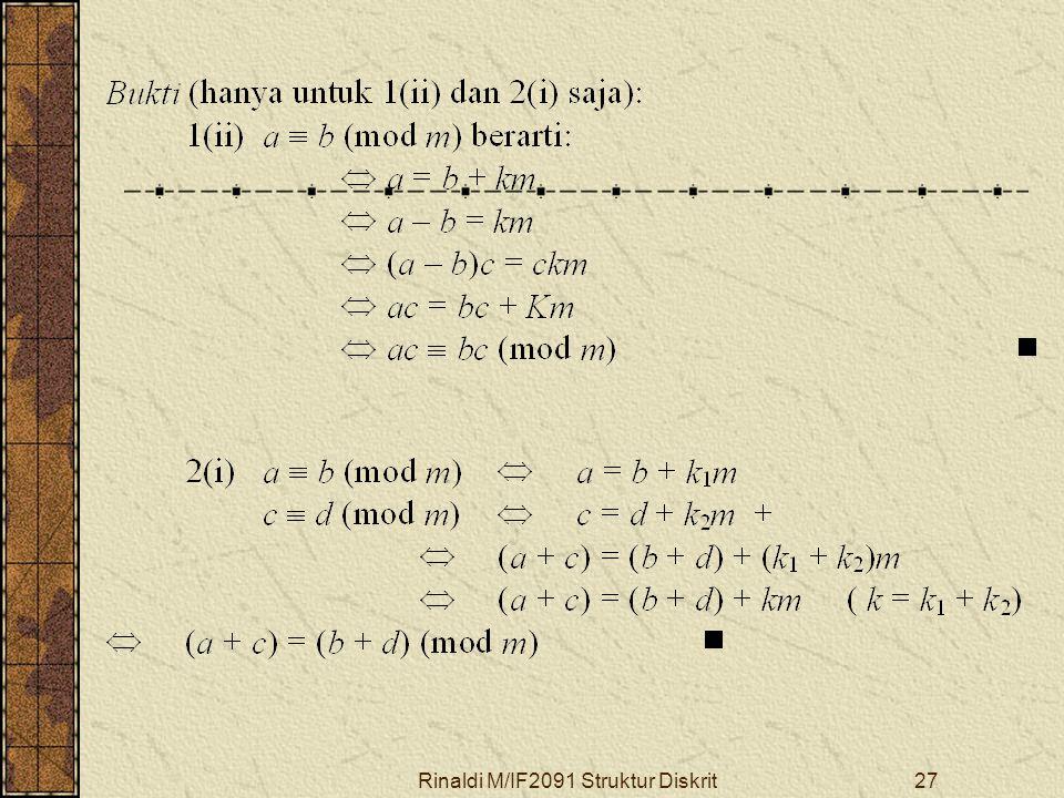Rinaldi M/IF2091 Struktur Diskrit27