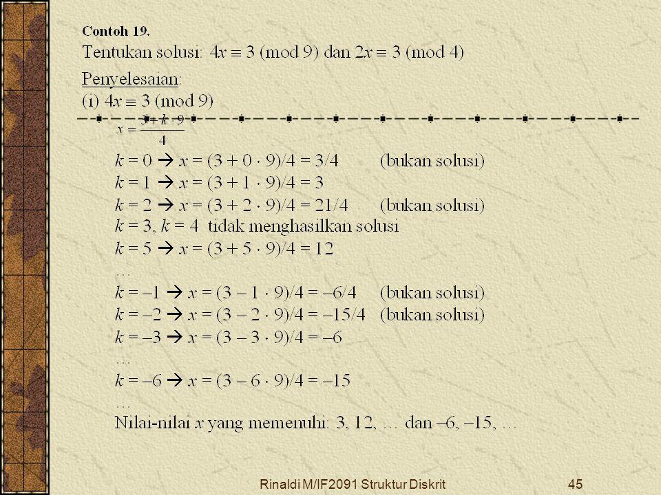 Rinaldi M/IF2091 Struktur Diskrit45