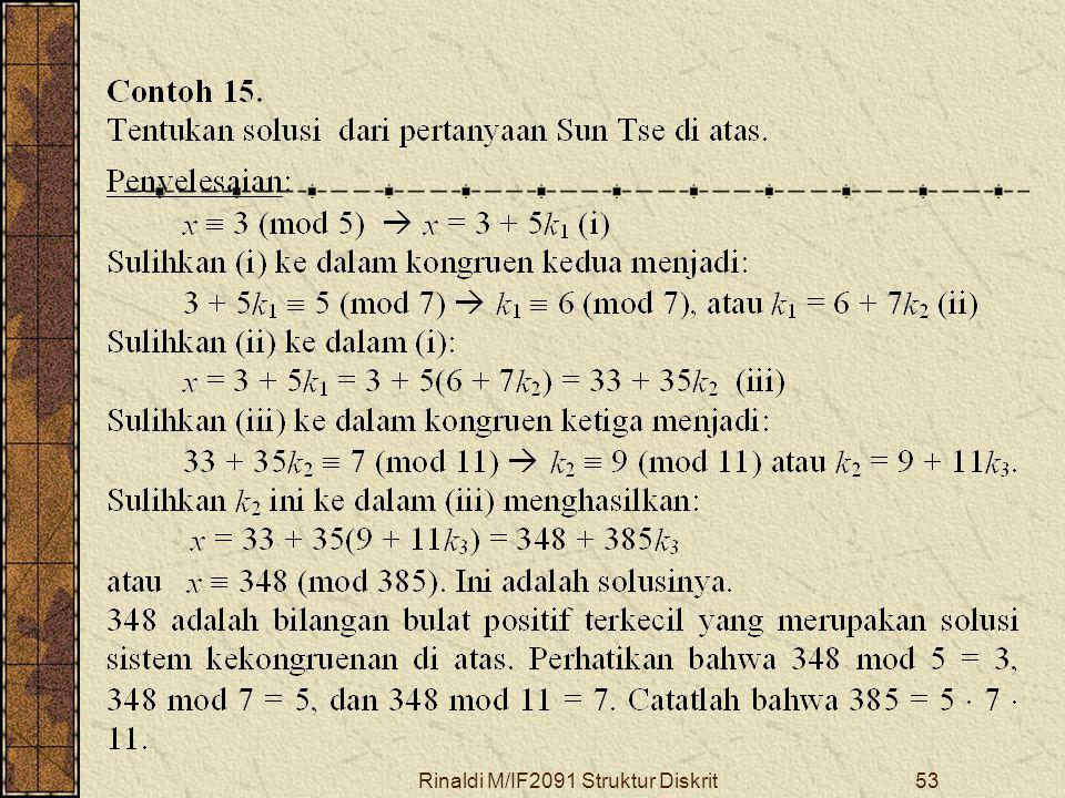 Rinaldi M/IF2091 Struktur Diskrit53