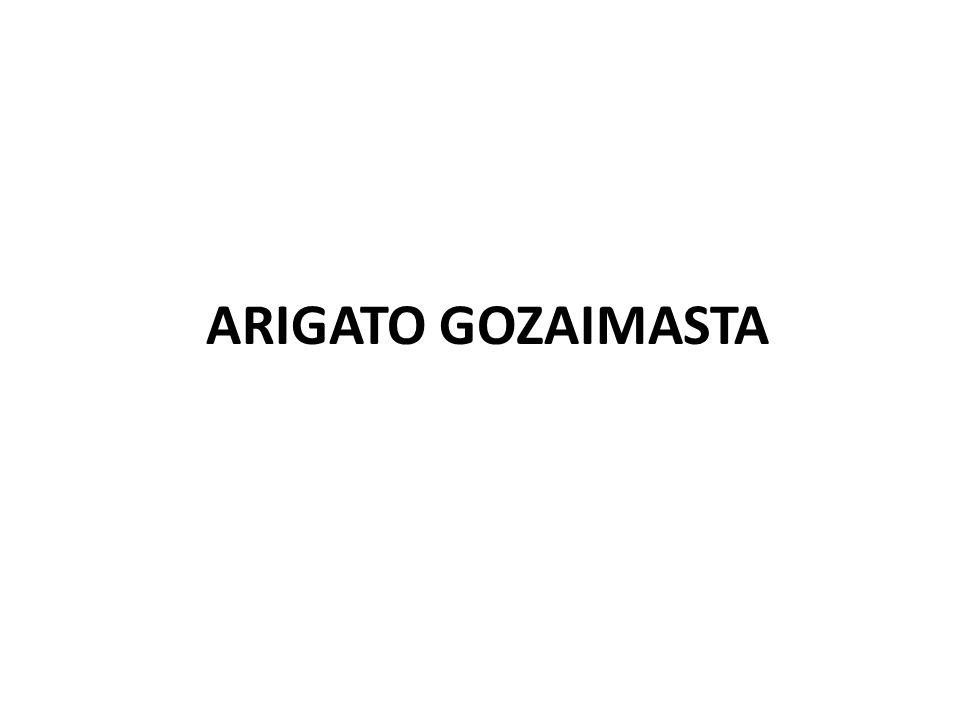 ARIGATO GOZAIMASTA