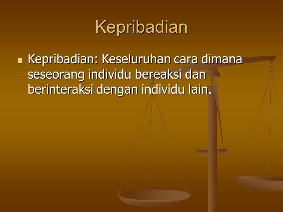 Lanjutan Mudah Akur atau mudah bersepakat (agreeableness).