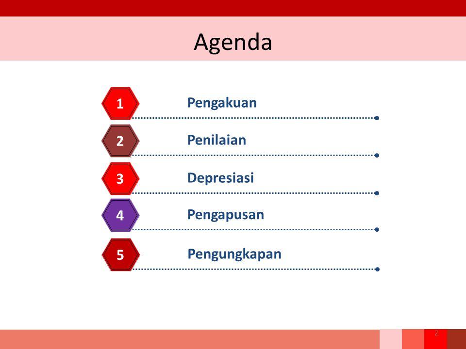 Agenda Pengakuan 1 Penilaian 2 Depresiasi 3 Pengapusan 4 2 Pengungkapan 5
