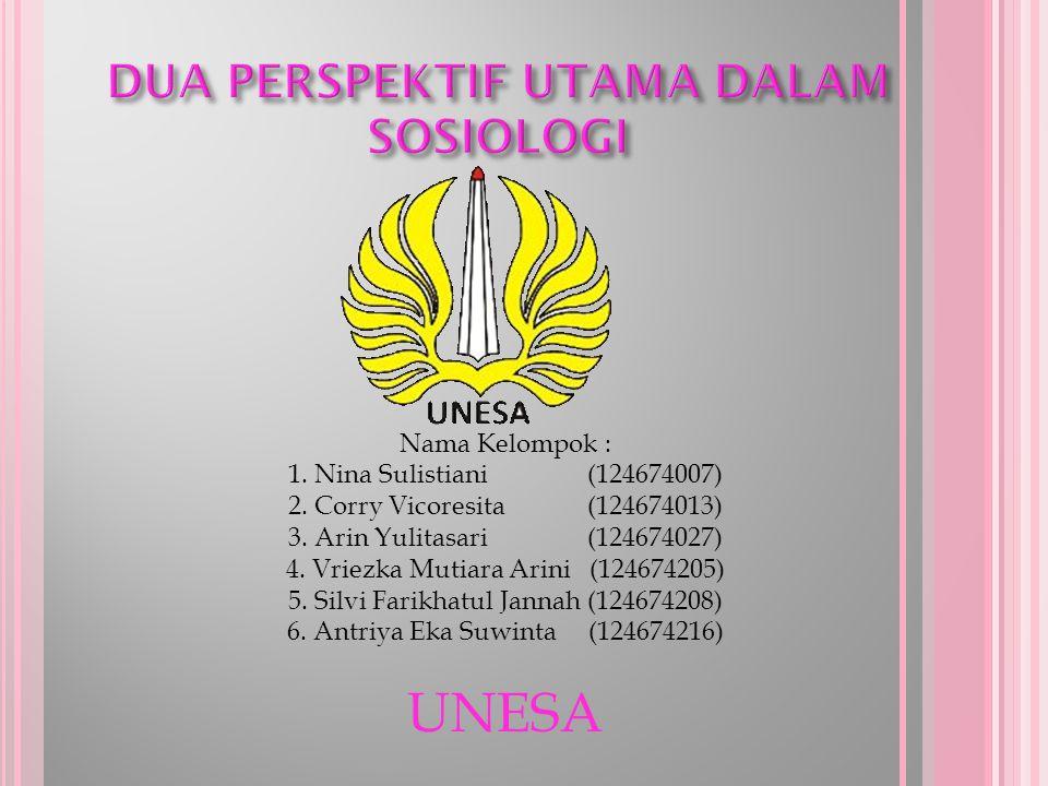 Nama Kelompok : 1.Nina Sulistiani (124674007) 2. Corry Vicoresita (124674013) 3.