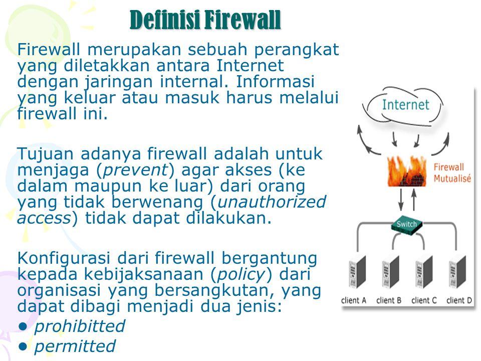 Beberapa Software Firewall Zone Alarm Pro Firewall PC Tools Firewall Plus Windows XP Firewall Port & Application Manager Norton Internet Security Prevx1 2.0.15 build 6