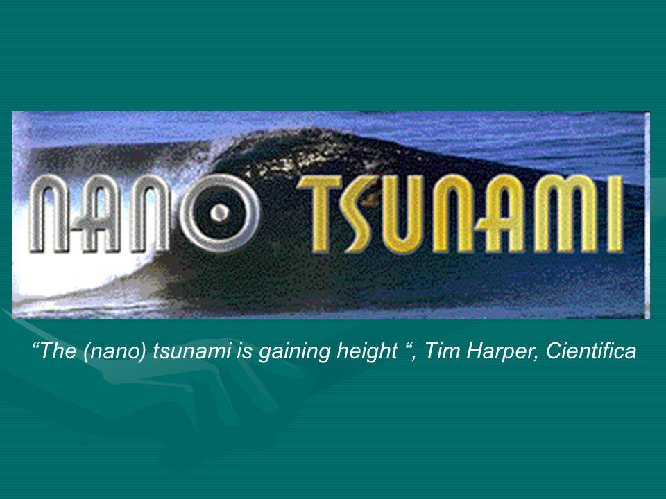 """The (nano) tsunami is gaining height "", Tim Harper, Cientifica"
