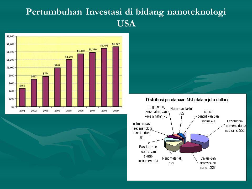 Pertumbuhan Investasi di bidang nanoteknologi USA