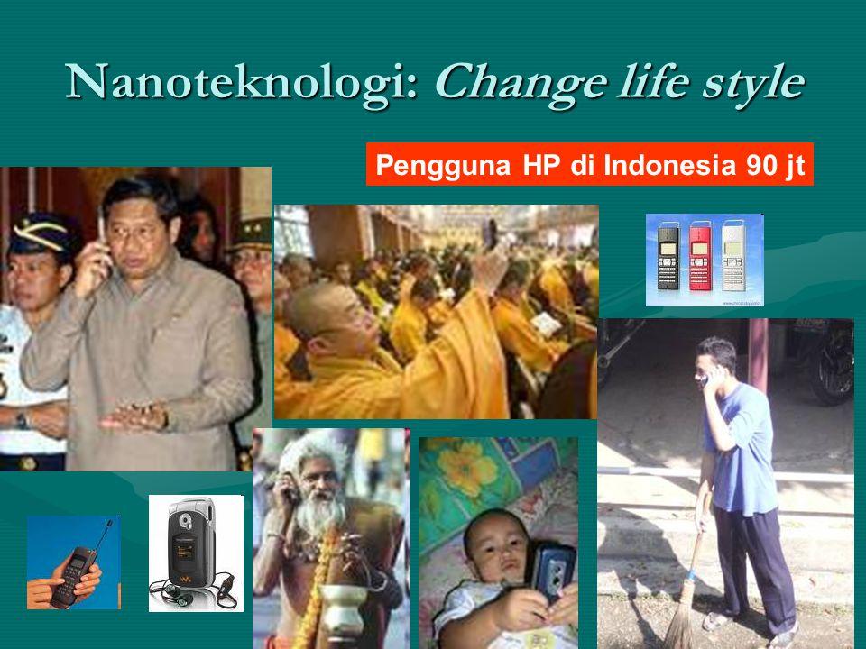 Nanoteknologi: Change life style Pengguna HP di Indonesia 90 jt