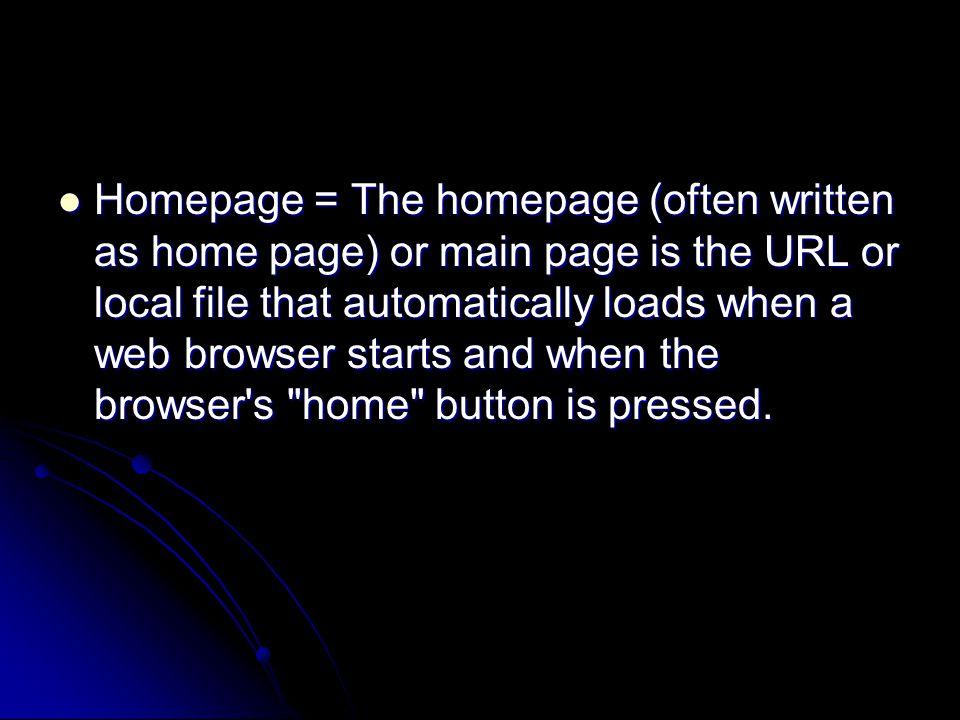 URL Penggunaan hypertext pada Web disebut halaman Web (web page).