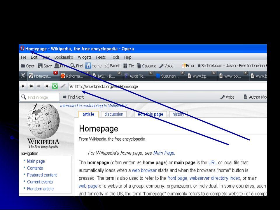 Contoh Web Page Dasar Sistem Informasi
