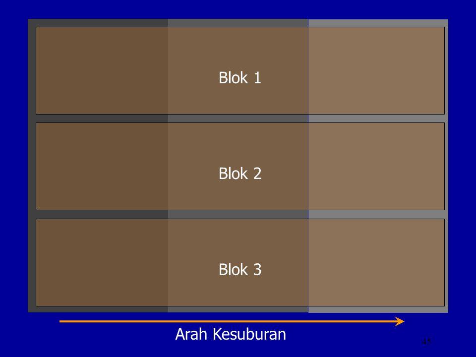45 Blok 1 Blok 2 Blok 3 Arah Kesuburan