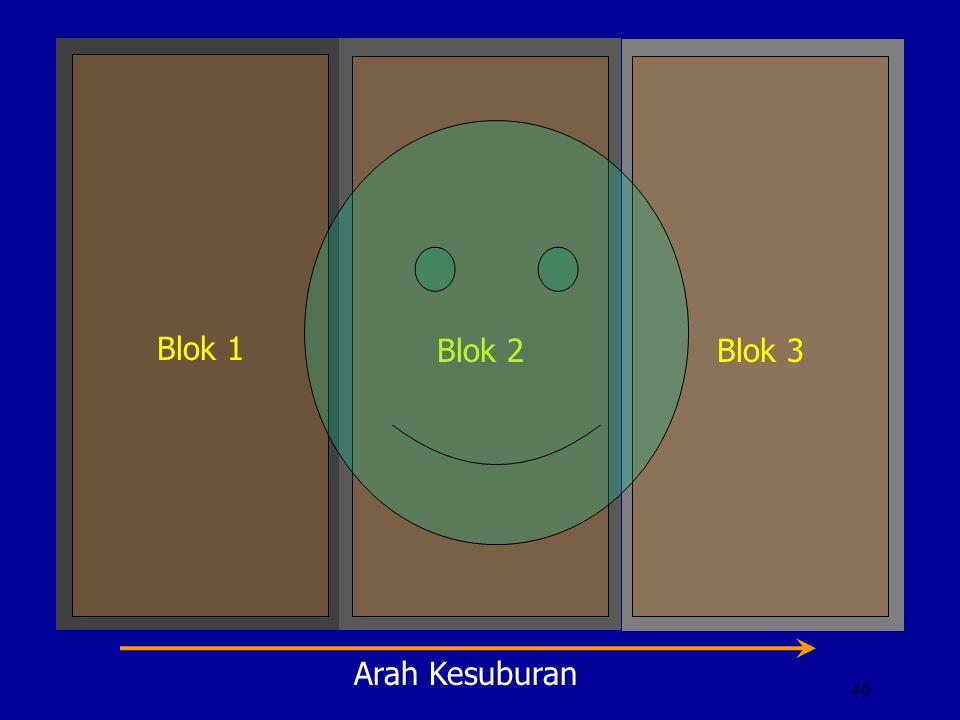 46 Blok 1 Blok 2Blok 3 Arah Kesuburan