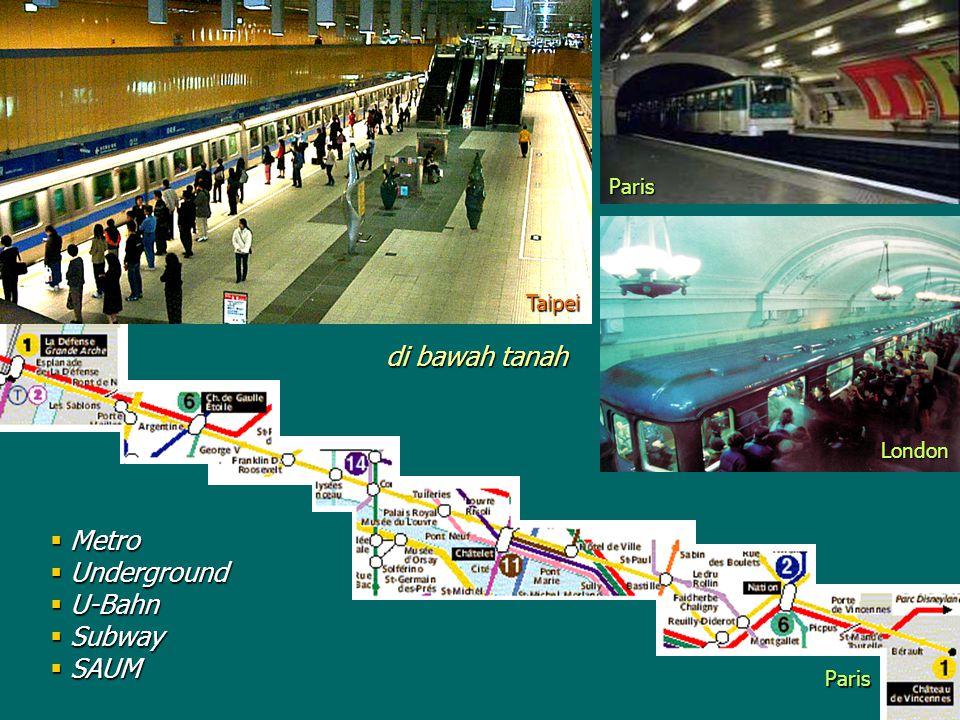 London Taipei  Metro  Underground  U-Bahn  Subway  SAUM Paris Paris di bawah tanah