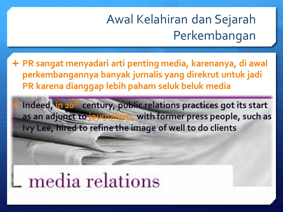 Why Media Relations.