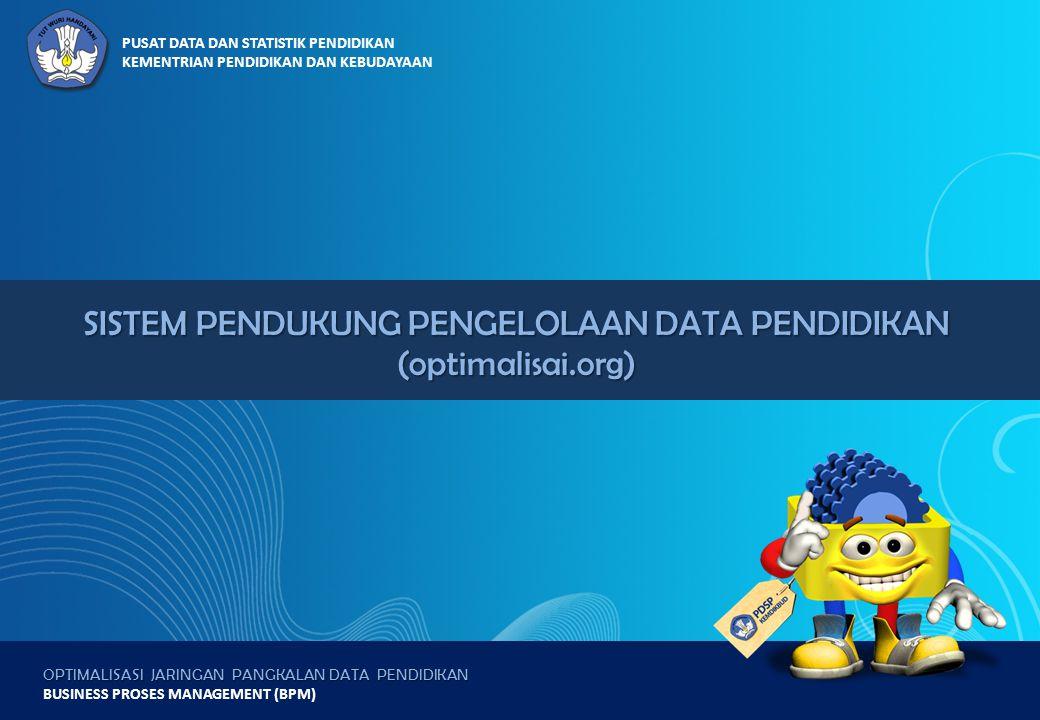 OPTIMALISASI JARINGAN PANGKALAN DATA PENDIDIKAN BUSINESS PROSES MANAGEMENT (BPM) PUSAT DATA DAN STATISTIK PENDIDIKAN KEMENTRIAN PENDIDIKAN DAN KEBUDAY