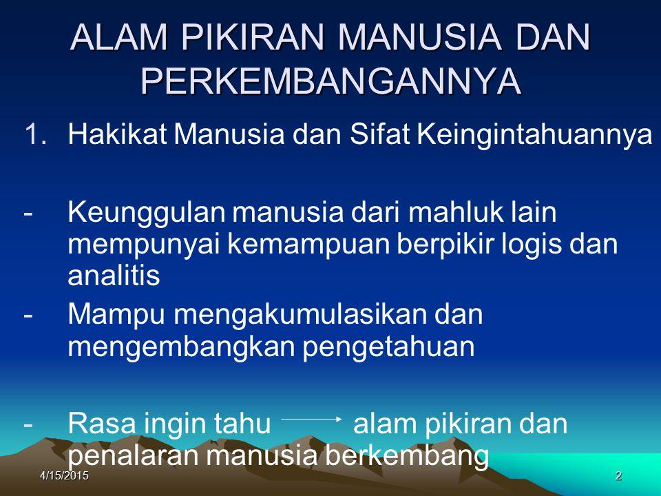 4/15/201553 KONSEP-KONSEP PENGELOLAAN SUMBERDAYA ALAM Macam dan jenis sumberdaya alam Pengelolaan sumberdaya alam Faktor pengelolaan:  Prinsip daya toleransi  Prinsip inoptimum  Prinsip pengawasan  Prinsip pembudidayaan  Prinsip ketanpabalikan