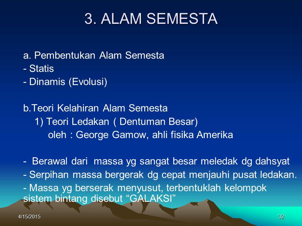 4/15/201532 3.ALAM SEMESTA a.