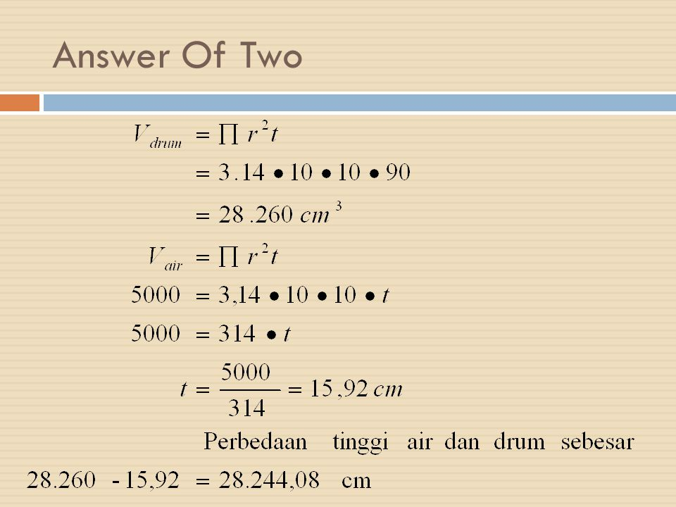 Answer Of Two