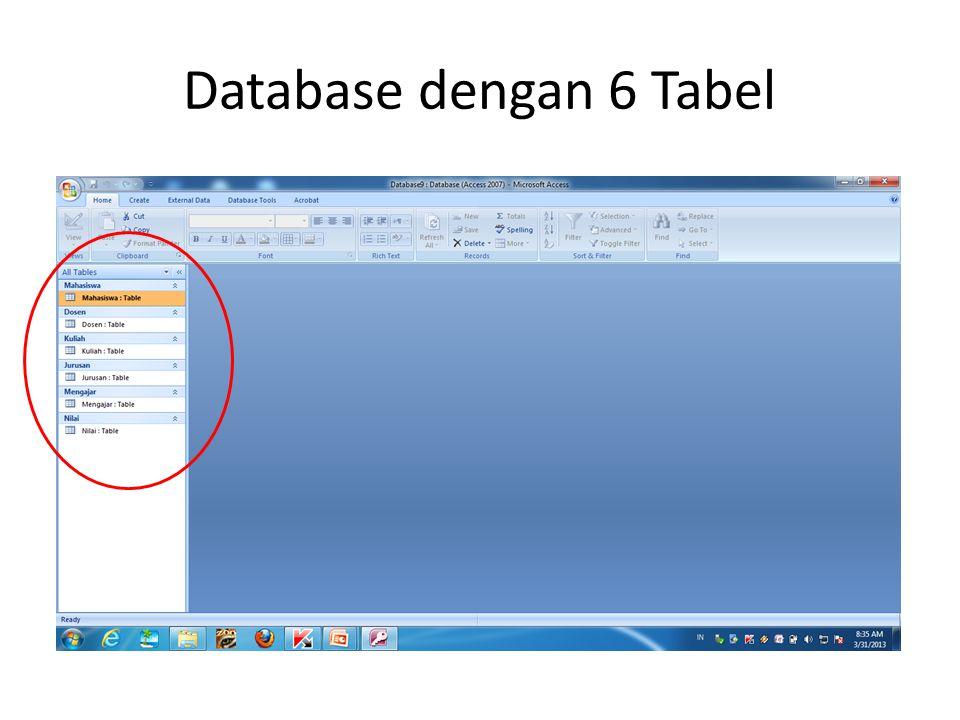 Database dengan 6 Tabel