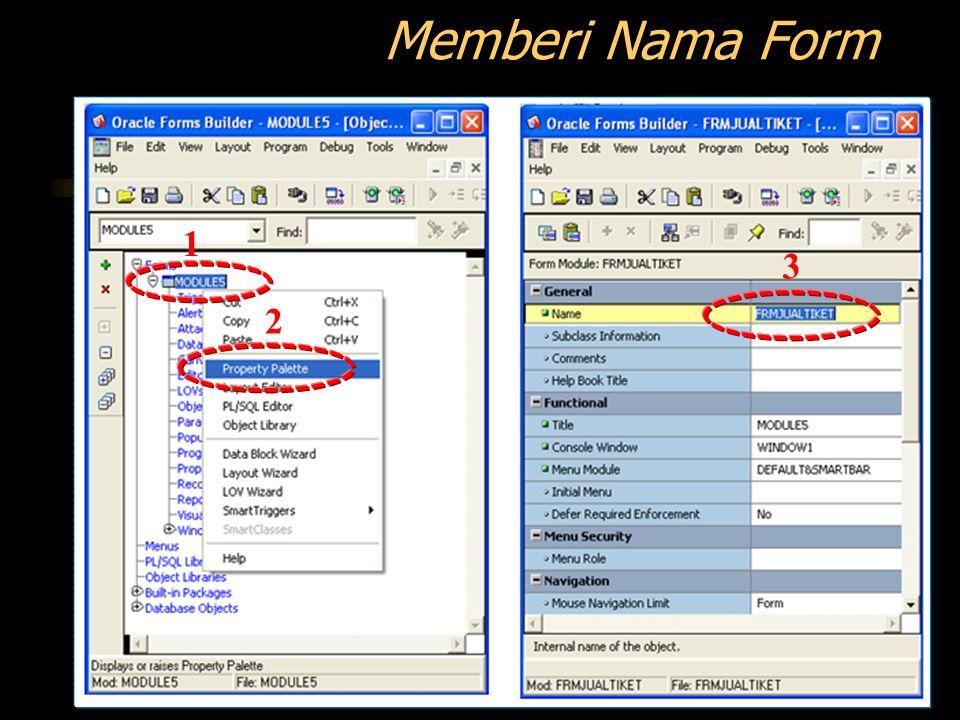 Memberi Nama Form 1 2 3