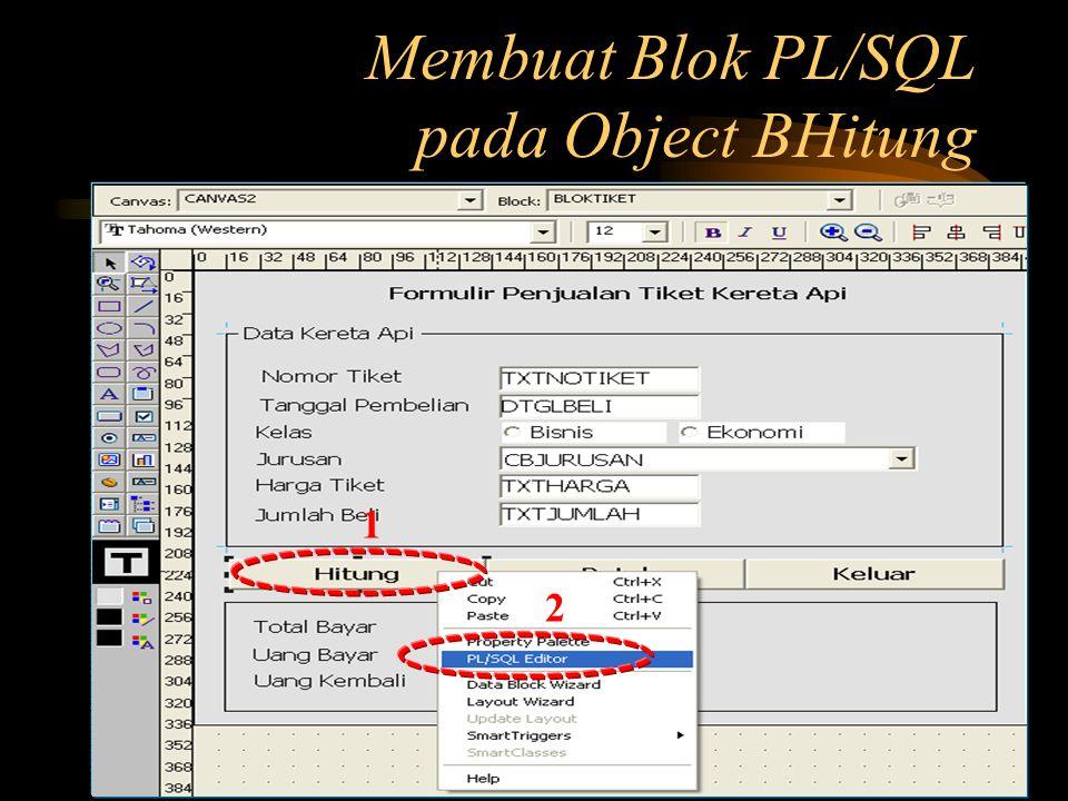 Membuat Blok PL/SQL pada Object BHitung 1 2