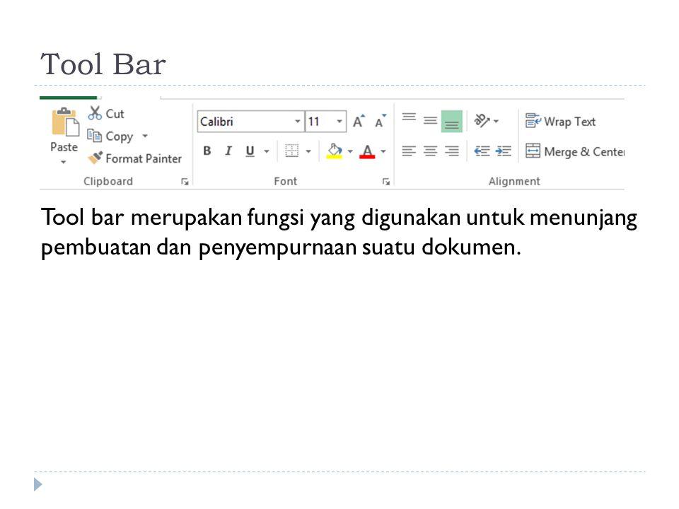 Status Bar Status bar mempunyai dua area utama, yaitu Message Area pada bagian kiri dan kotak indikator pada bagian kanan.