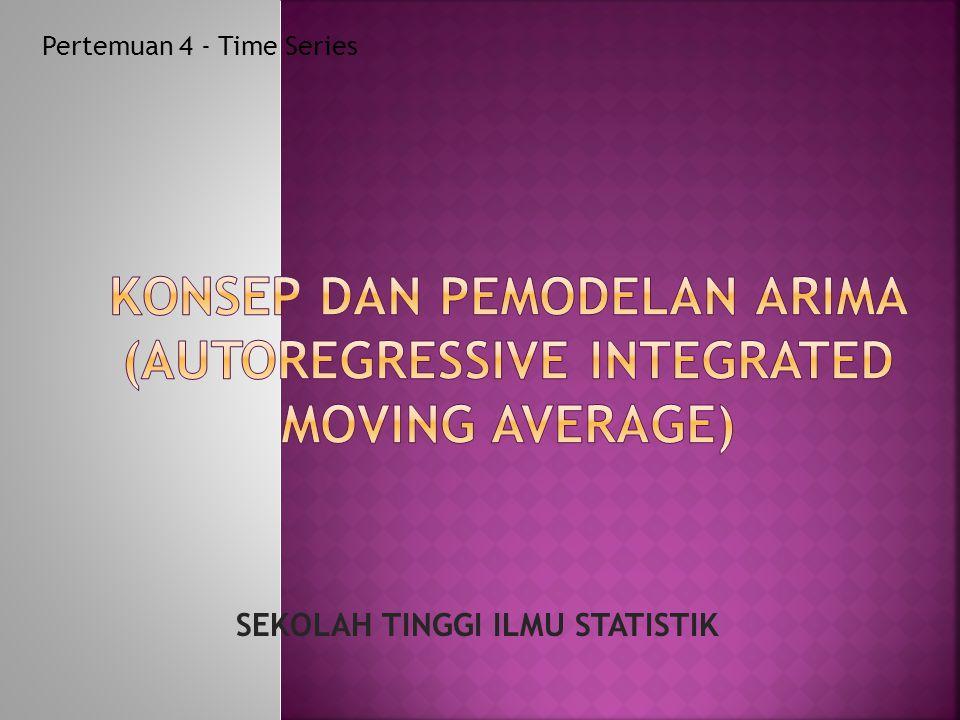 Pertemuan 4 - Time Series SEKOLAH TINGGI ILMU STATISTIK