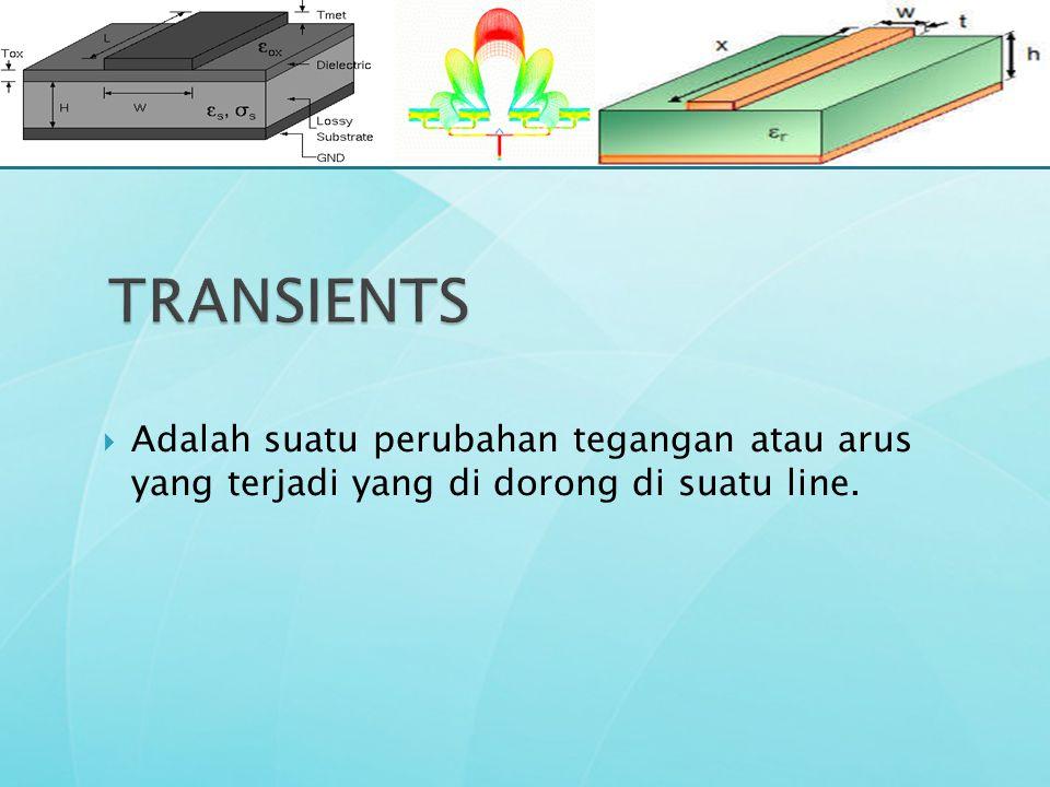  Adalah suatu perubahan tegangan atau arus yang terjadi yang di dorong di suatu line.