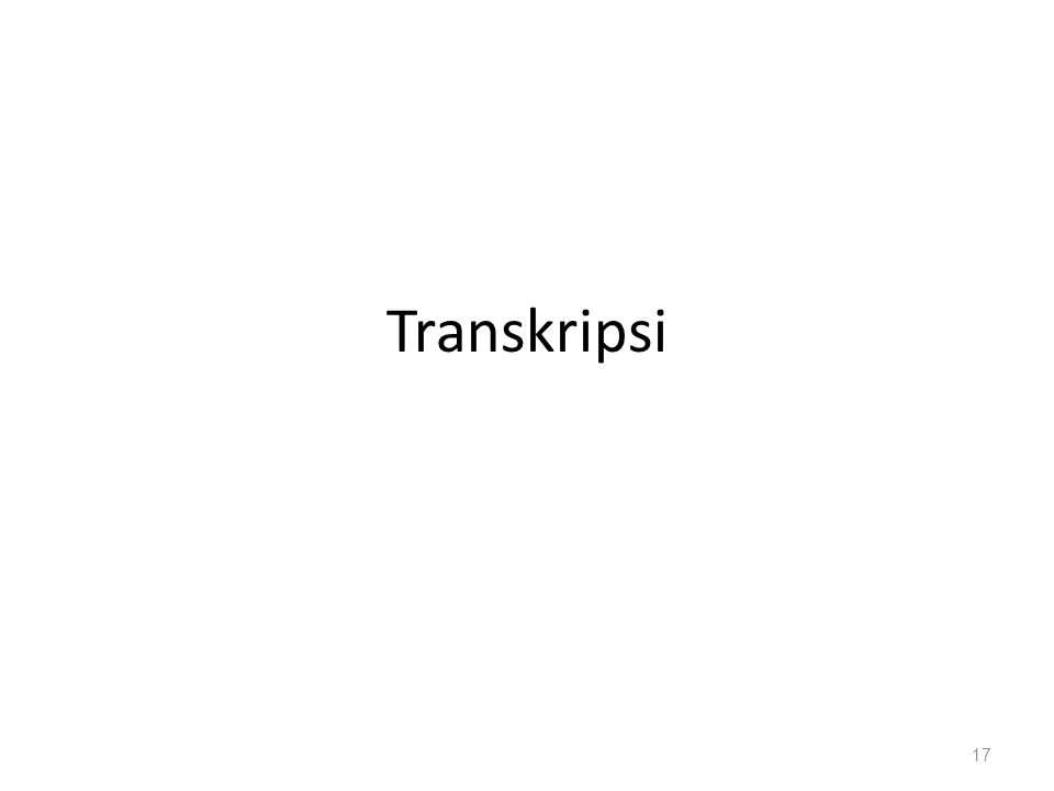 Transkripsi 17