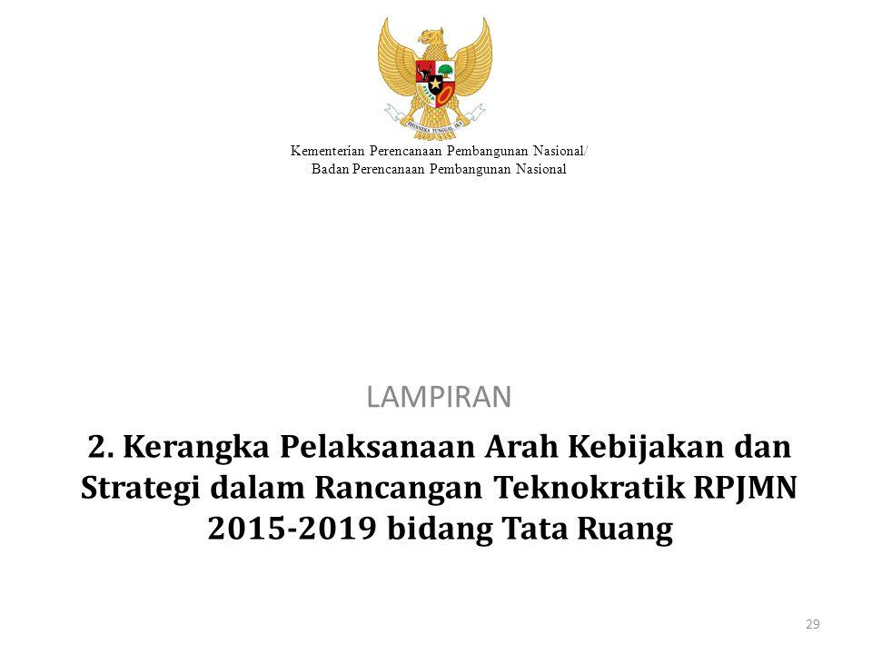 Kementerian Perencanaan Pembangunan Nasional/ Badan Perencanaan Pembangunan Nasional 2. Kerangka Pelaksanaan Arah Kebijakan dan Strategi dalam Rancang