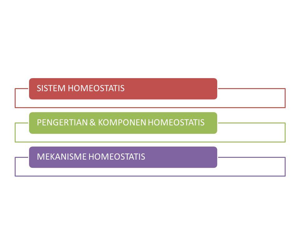 SISTEM HOMEOSTATISPENGERTIAN & KOMPONEN HOMEOSTATISMEKANISME HOMEOSTATIS