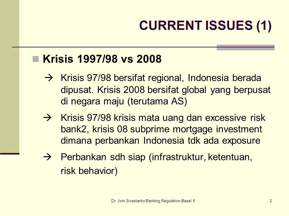 13 Perlunya Regulasi Perbankan Masalah korupsi terjadi powerful individual mempengaruhi bank dan bank mempengaruhi regulator dengan menawarkan balasjasa.